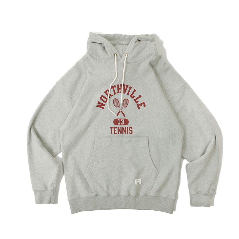 V.S.C HOOD SWEAT_NORTHVILLE_3% MELANGE GRAY 아웃스탠딩 컴퍼니V.S.C HOOD SWEAT_NORTHVILLE_3% MELANGE GRAY