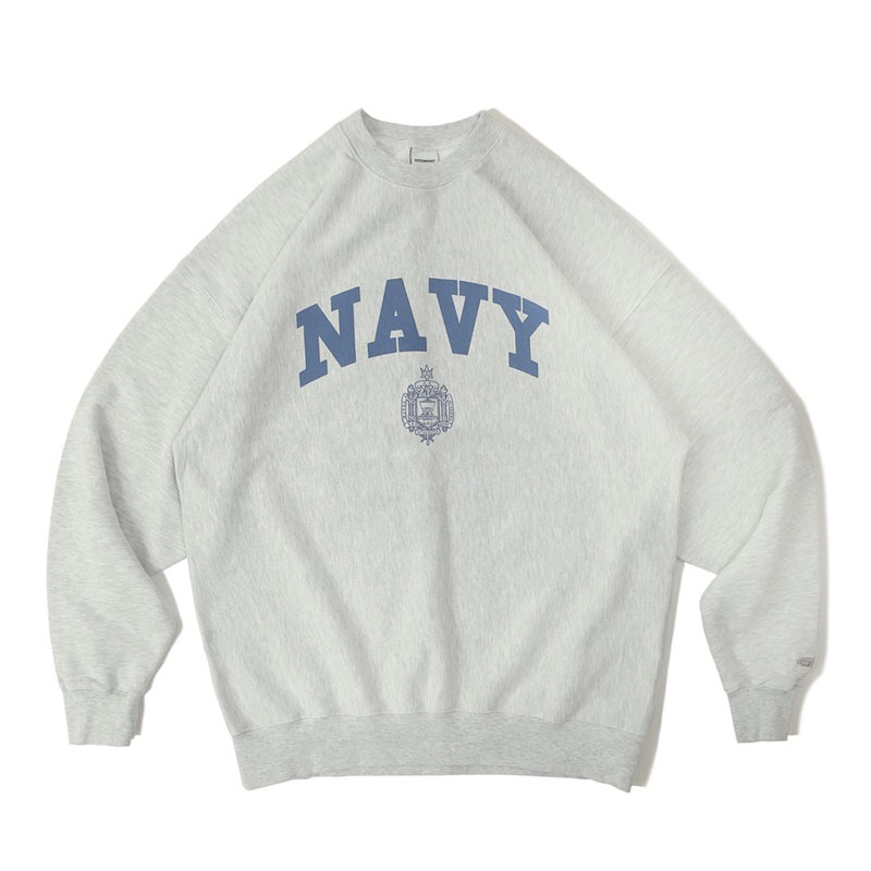 V.S.C SWEAT(NAVY)_1% MELANGE GRAY 아웃스탠딩 컴퍼니V.S.C SWEAT(NAVY)_1% MELANGE GRAY