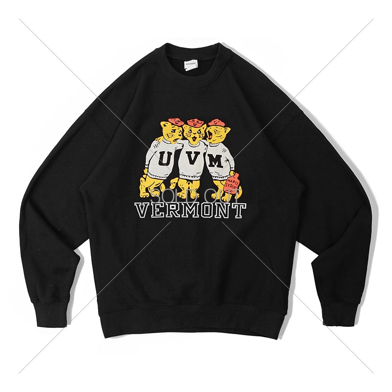 V.S.C SWEAT_U.V.M_BLACK 아웃스탠딩 컴퍼니V.S.C SWEAT_U.V.M_BLACK