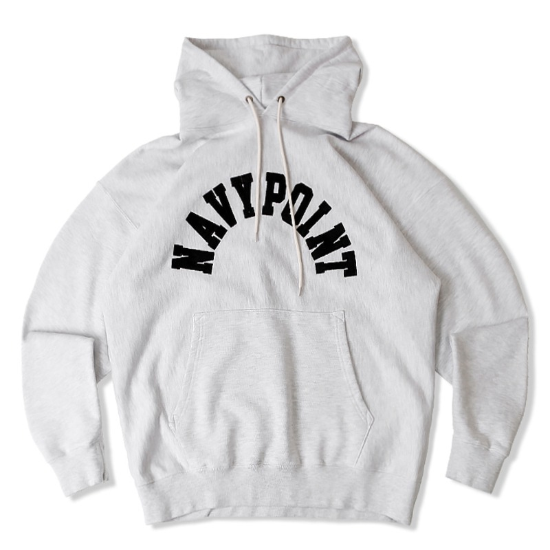 V.S.C HOOD SWEAT (NAVY POINT)_1%MELANGE GRAY