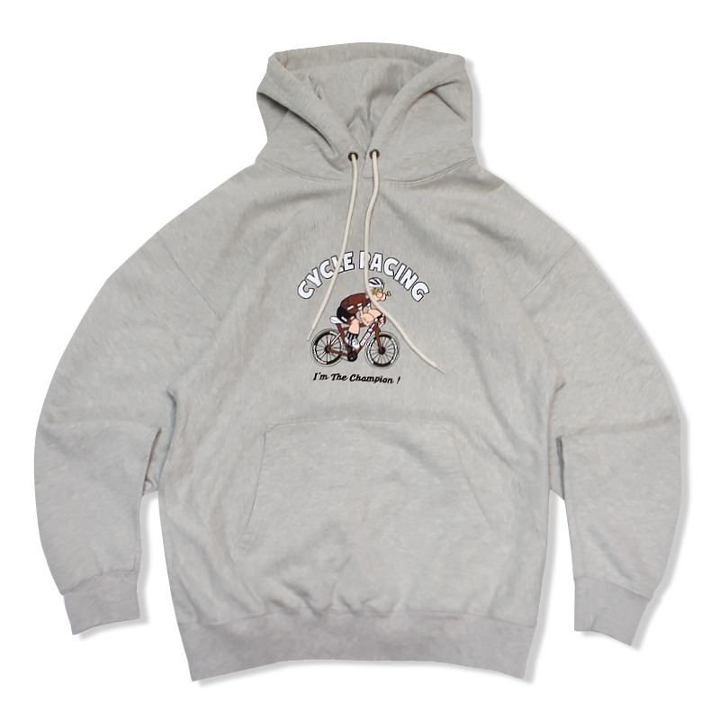 V.S.C HOOD SWEAT (CYCLE RACING)_3% MELANGE GRAY
