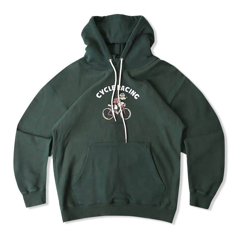 V.S.C HOOD SWEAT (CYCLE RACING)_GREEN