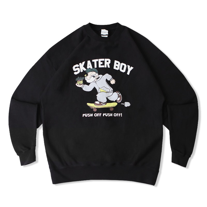 V.S.C SWEAT (SKATER BOY)_BLACK
