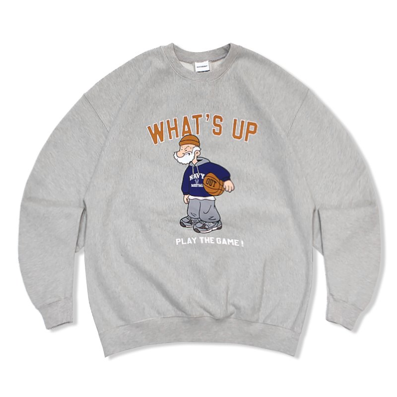 V.S.C SWEAT (WHATS UP)_3%MELANGE GRAY