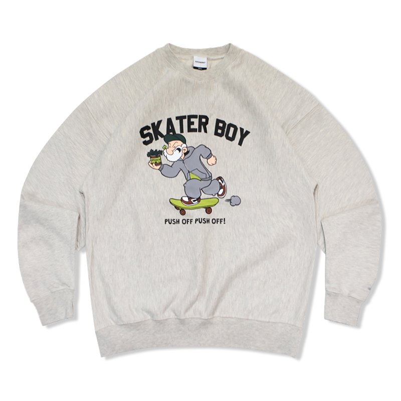 V.S.C SWEAT (SKATER BOY)_1% MELANGE OATMEAL