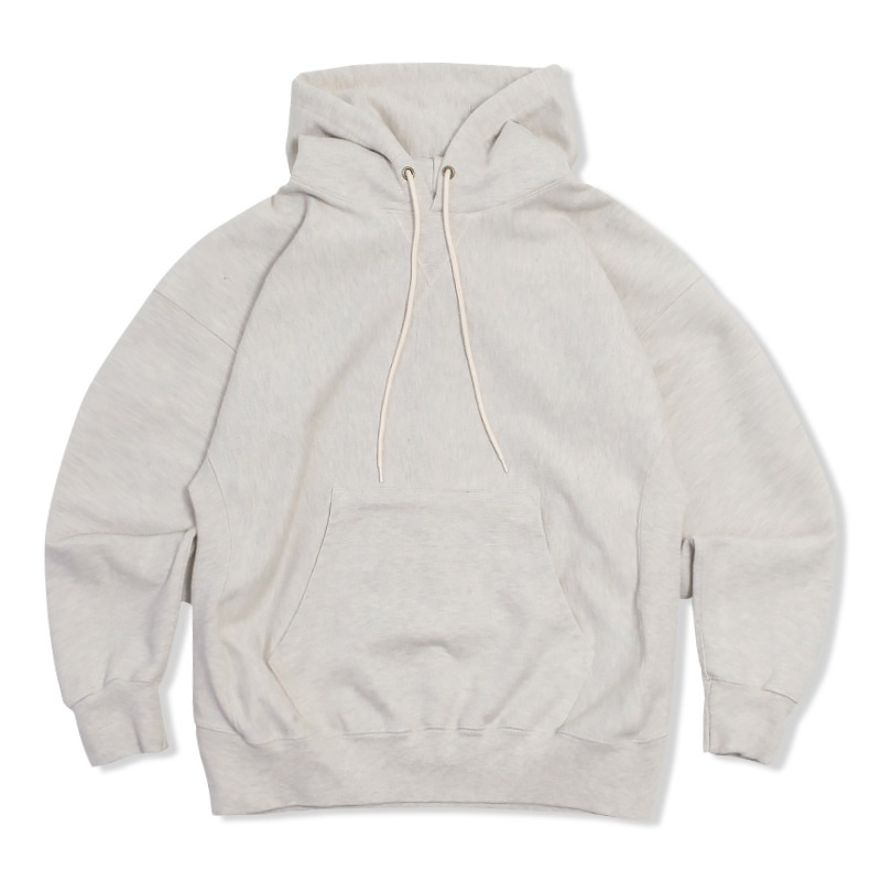 REVERSE HEAVY SWEAT HOOD_1% OATMEAL