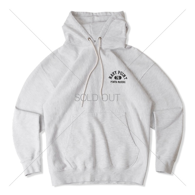 V.S.C HOOD SWEAT POINT_1%MELANGE GRAY